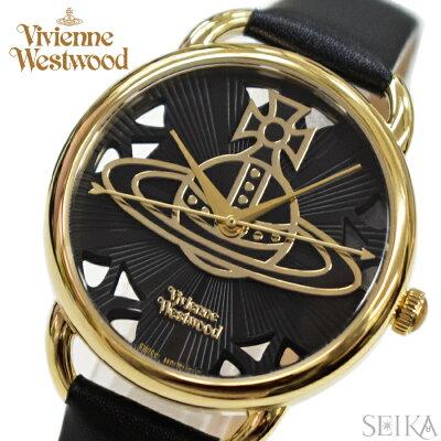 【当店ならお得クーポンあり!】【クリアランス】(ショップ袋プレゼント)ヴィヴィアンウエストウッドVivienne Westwood時計 腕時計 レディースブラック ブラック レザー VV163BKBK
