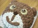 チョコレートケーキ 【誕生日ケーキバースデーケーキならこれ!】5号サイズ くまちゃんキャラクター直径15cm4〜6名分02P05Sep15