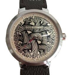 ルイ ルイヴィトン 腕時計(メンズ) ≪送料無料≫ルイ・ヴィトン 2015年メンズ 伊勢丹限定59本!! タンブール ダミエ モノグラム ロープ クリストファー・ネメス コラボ 腕時計 Q1D060