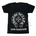 クロムハーツ ≪新品≫正規品 クロムハーツ メンズ Tシャツ ブラック 黒 Los Angeles限定 ホースシュー Sサイズ Chrome hearts 日本未入荷 ロサンゼルス