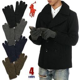 ラルフローレン 手袋(メンズ) ラルフローレン 手袋 スマホ対応 メンズ POLO RALPH LAUREN てぶくろ グローブ 防寒 USAモデル ブランド ファッション 黒 紺 茶 グレー ブラック ネイビー ブラウン