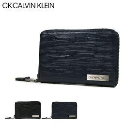 カルバンクライン 二つ折り財布 メンズ シーケー カルバンクライン 二つ折り財布 ラウンドファスナー タットII メンズ 808615 CK CALVIN KLEIN   本革 レザー[bef][PO5][即日発送]