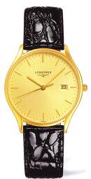 ロンジン 腕時計(メンズ) 正規品ロンジンlongines  「ラ・グランクラシック」 La Grande Classique メンズウォッチ 35mmケース クォーツ腕時計 ゴールドPVD 革ストラップ 【L4.759.2.32.2】【L47592322】