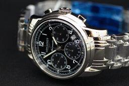 ロンジン 腕時計(メンズ) 正規品ロンジンlongines スイス製 サンティミエ クロノグラフ 「コラムホイール」 41mmケース  自動巻き ブラック文字盤 【L2.752.4.53.6】L27524536【土日祝日発送可能】