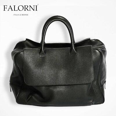 【3000オフクーポンあり】FALORNI ファロルニ ボストンバッグ ブラック/黒 メンズ レディース 男女兼用 本革 イタリア製 1000