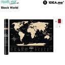 scratch map  【クーポン配布中】1DEA.me Travel Map Black World 世界地図 ポスター スクラッチ インテリア 国 マップ アイデアドットミー IDEA001 【あす楽/土日祝対象外】
