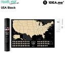 scratch map  【クーポン配布中】1DEA.me Travel Map USA Black アメリカ地図 ポスター スクラッチ インテリア 国 マップ アイデアドットミー おしゃれ IDEA100 【あす楽/土日祝対象外】