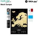 scratch map  【クーポン配布中】1DEA.me Travel Map Black Europe ヨーロッパ地図 ポスター スクラッチ インテリア 国 マップ アイデアドットミー おしゃれ IDEA102 【あす楽/土日祝対象外】