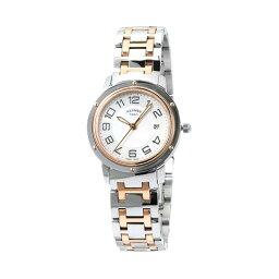 エルメス クリッパー 腕時計(レディース) INT-646エルメス クリッパー 28mm K18PG/SSコンビ レディース 【CP1.321.212/4967 (035345WW00):ホワイトシェル】【時計/ウォッチ】