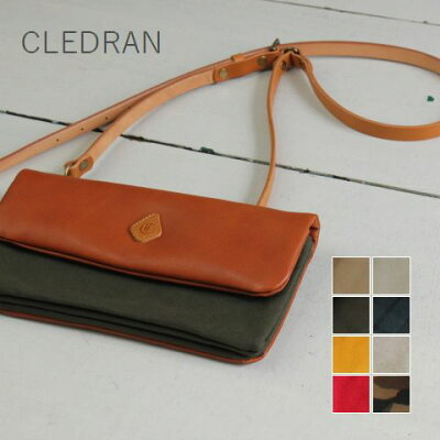 CLEDRAN (クレドラン)ECRASERIES2WAY CANVAS POCHETTE 8colormade in japancl-2552-h