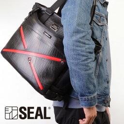 シール X-bag トート メンズ SEAL シール ファスナー付き A4 トートバッグ 防水 廃タイヤ タイヤチューブ 人気 日本製 黒 プレゼント