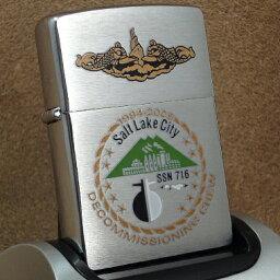 ミリタリーZippo 2007年製Zippo ミリタリーオーバーラン:Salt Lake City SSN716