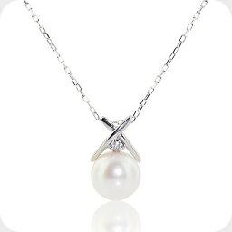 真珠 ペンダント ダイヤモンド アコヤ真珠 ネックレス ホワイトゴールド ダイヤ パール ネックレス 誕生石 6月 4月 10金 K10レディース 女性 コンビニ受取対応商品 誕生日 プレゼント 母の日