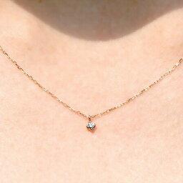 ピンクゴールド ネックレス(レディース) ダイヤモンド ネックレス ピンクゴールド 一粒 ダイヤ ネックレス 4月 誕生日 10金 K10レディース 女性 コンビニ受取対応商品 誕生日 プレゼント