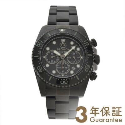 【500円割引クーポン】ブロニカ BRONICA 腕時計本舗限定 ソーラー ブラック×ブラック BR-821-BBK [正規品] メンズ 腕時計 時計
