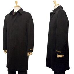 ロロピアーナ  ロロピアーナ カシミヤ混メンズ セットイン ステンカラー コート[401]ブラック st90150-C-BK