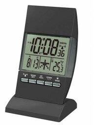 温湿時計 イルミネーション電波クロック  シルバーRW-005SI/ブラックRW-005BK (置時計、目覚し時計、目覚時計、電波時計、アラームクロック、温度計)(楽天ランキング受賞・温湿時計ランキング5位、2017/4/10デイリー)