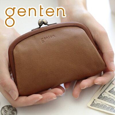 f2fc5c8c72f5 【かわいいWプレゼント付】 genten ゲンテン 財布G soft(Gソフト) がま口