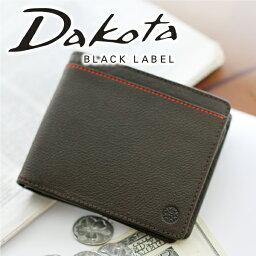 ダコタ 二つ折り財布(メンズ) 【実用的Wプレゼント付】 Dakota BLACK LABEL ダコタ ブラックレーベル 財布リバーIII 小銭入れ付き二つ折り財布(パスケース付き) 0627703 (0625703)メンズ 二つ折り パスケース 定期入れ ギフト プレゼント ブランド