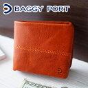 【実用的Wプレゼント付】 BAGGY PORT バギーポート 財布ブリタニア 小銭入れ付き二つ折り財布 ZKM-201メンズ 二つ折り ギフト プレゼント ブランド