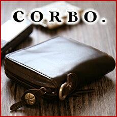 ブランド二つ折り革財布(メンズ) CORBO. コルボ-CLAY Works- クレイワークスシリーズ二つ折り財布 ラウンドファスナー 8JF-9974本革 財布 メンズ ブラウン 日本製 ポイント10倍 送料無料【楽ギフ_包装選択】