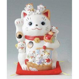 招き猫の置物 置物 招福づくし招き猫(磁器) 錦綾 [高さ16.5cm] 【縁起物 かわいい 置物】
