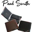 ポールスミス 二つ折り財布(メンズ) ポールスミス 財布 二つ折り財布 アーティストストライプポップ 小銭入れあり 【Paul Smith メンズ レディース ブランド 正規品 新品 2020年 ギフト プレゼント】 P514 873181 PSC514
