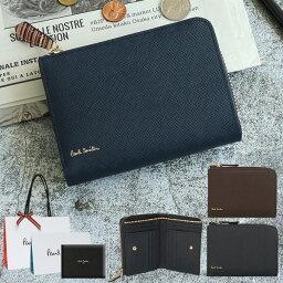 ポールスミス 二つ折り財布(メンズ) ポールスミス 財布 二つ折り財布 ジップストローグレイン 小銭入れあり 【Paul Smith メンズ レディース ブランド 正規品 新品 2019年 ギフト プレゼント】 PSC784