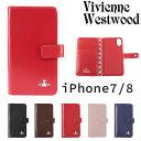 ヴィヴィアンウエストウッド ヴィヴィアンウエストウッド レディース iPhoneケース 手帳型 iPhone7/8対応 牛革 ヴィンテージ WATER ORB 3918M1B
