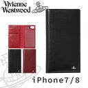 ヴィヴィアンウエストウッド ヴィヴィアンウエストウッド レディース iPhoneケース 手帳型 iPhone7/8 牛革 SIMPLE TINY ORB 3918D7B