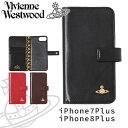 ヴィヴィアンウエストウッド ヴィヴィアンウエストウッド レディース iPhoneケース 手帳型 iPhone7plus/8plus 牛革 ヴィンテージ WATER ORB 3918M1C
