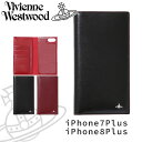 ヴィヴィアンウエストウッド ヴィヴィアンウエストウッド レディース iPhoneケース 手帳型 iPhone7plus/8plus 牛革 SIMPLE TINY ORB 3918D7C