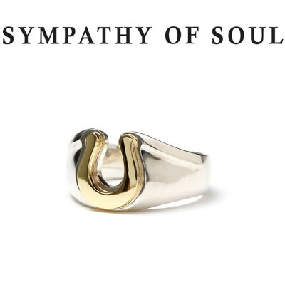 SYMPATHY OF SOUL シンパシーオブソウル Horseshoe Amulet Combination Ring Silver×Brass ホースシューアミュレットコンビネーションリング シルバー 真鍮【正規商品 公式通販】