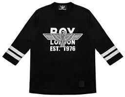 ボーイロンドン HE&SHE BOYLONDON KOREA【送料無料】ボーイロンドンTシャツストリート7分袖 T-シャツ オーバーサイズルーズフィット半袖 Tシャツ B73TL12U89