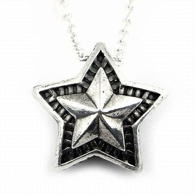 人気 メンズ レディース ブランド SBG シルバー リバーシブル スター チェーン ネックレス シルバー 925 銀 星