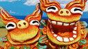 シーサーの置物 【シーサー・置物・玄関】米子焼き★活M(2色)★沖縄・人気・置物・出産祝い・内祝い・新築祝い・結婚祝い・引っ越し祝い・寿・風水・カラフル・かわいい・土産・魔除け・ペアシーサー…