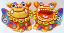 シーサーの置物 送料無料!!【シーサー】米子焼★ゆがふL★置物・人気・土産・赤・緑・沖縄の魔除けペアシーサー・プレゼントにいかがですか?