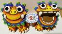 シーサーの置物 送料無料!!【シーサー・置物・玄関】米子焼・ゲラM(2色)★引っ越し祝い・新築祝い・出産祝い・内祝い・ギフト・寿・置物・土産・赤・青・沖縄の魔除けペアシーサー・カラフルな色とユニークな表情が人気のシーサーです。【沖縄】20141024_シーサー・父の日