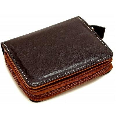 二つ折り財布 本革 メンズ 小銭入れ ショートウオレット/メンズ財布/カウレザーベーシック/紳士財布 オリーブ ネイビー