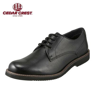 セダークレスト CEDAR CREST カジュアルシューズ CC-1991 メンズ靴 靴 シューズ 3E相当 レースアップシューズ ローカット Loris IV スムースレザー 外羽根 小さいサイズ対応 24.5cm ブラック