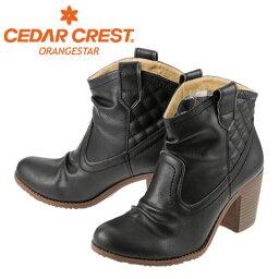 セダ―クレスト [セダークレスト オレンジスター] CEDAR CREST CC-2710 レディース | ウエスタンブーツ | ショートブーツ シャーリング | チェック柄 トレンド | ブラック