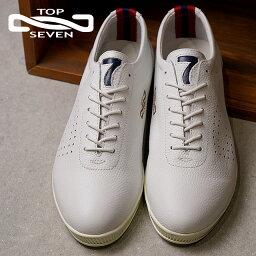 トップセブン 【即納】TOP SEVEN トップセブン TS-260 レザースニーカー WHT メンズ・レディース 靴 シューズ (SS18)【コンビニ受取対応商品】