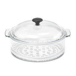耐熱ガラス鍋 【日本正規品】【送料無料】シャスール ガラススチーマー 24cm