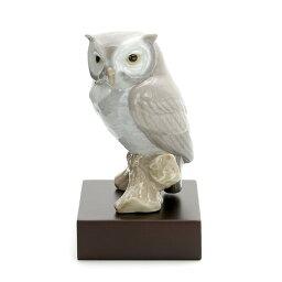 リヤドロ フクロウ リヤドロ LLADRO 幸運のフクロウ 1008035 LUCKY OWL ポーセリン 陶器 ふくろう 【ラッキーシール対応】