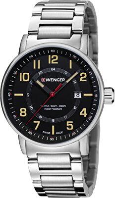 ウェンガー スイス アーミーナイフ メンズ 腕時計 01.0341.114 Wenger Men's 'Attitude Outdoor' Swiss Quartz Stainless Steel Casual Watch, Color:Silver-Toned (Model: 01.0341.114)ウェンガー スイス アーミーナイフ メンズ 腕時計 01.0341.114