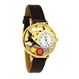 クリスマ 気まぐれな腕時計 かわいい プレゼント クリスマス ユニセックス 【送料無料】Whimsical Watches Unisex G0130011 Labrador Retriever Black Skin Leather Watch気まぐれな腕時計 かわいい プレゼント クリスマス ユニセックス