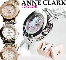アンクラーク 腕時計(レディース) アンクラーク ANNE CLARK レディース 腕時計 アナログ 天然シェル文字盤 ハート ブレスウォッチ AN1021 【女性用腕時計 リストウォッチ ランキング ブランド かわいい カラフル】