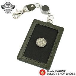 オロビアンコ オロビアンコ リール付き パスケース/カードケース ブラック/グリーン ORHO-001-BK 正規品