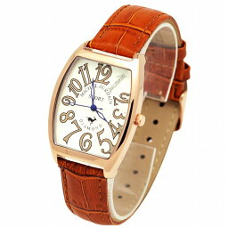 ミッシェルジョルダン MICHEL JURDAIN SPORT ミッシェル ジョルダンスポーツ メンズ 腕時計 ダイヤモンド入 トノー型 SG-1100-3 ホワイト×ブラウンレザーベルト