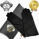 オロビアンコ 手袋 オロビアンコ OROBIANCO レザーグローブ レディース 手袋 ORL-1582 ブラック Mサイズ:7.5(21cm) 羊革 ウール BLACK
